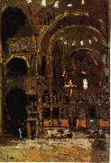 Walter Sickert Interior of St Mark's, Venice oil painting